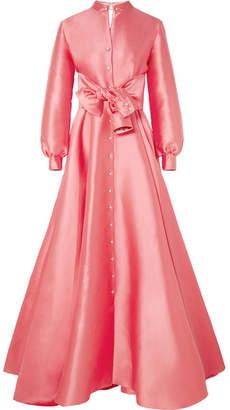 Alexis Mabille Embellished Duchesse-satin Gown - Bubblegum