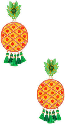 Mercedes Salazar Fiesta Pina Verde Earrings