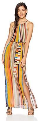 Amy Byer A. Byer Junior's Young Women's Teen Halter Style Blouson Dress,XL