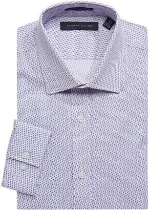 Tommy Hilfiger Printed Slim-Fit Dress Shirt