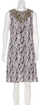 Tory Burch Embellished Silk Midi Dress w/ Tags