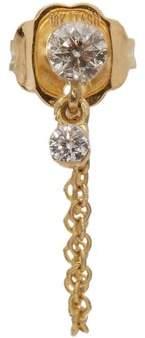 Maria Tash Diamond & Yellow Gold Single Earring - Womens - Yellow Gold
