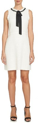 Women's Cece Contrast Trim Tweed Dress $139 thestylecure.com