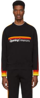 Opening Ceremony Black Stripe Logo Sweater