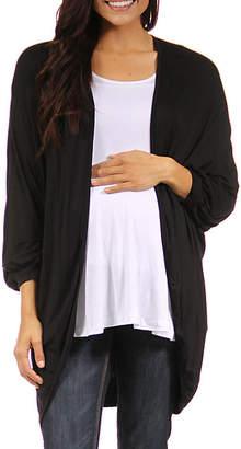24/7 Comfort Apparel Womens Cardigan-Plus Maternity