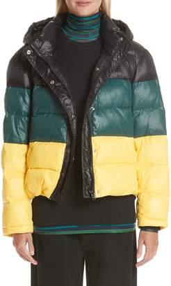 Proenza Schouler PSWL Colorblock Hooded Puffer Coat