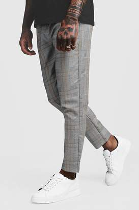 boohoo Large Window Pane Check Smart Cropped Jogger