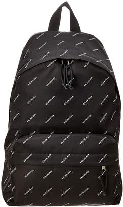 Balenciaga Logo Print Backpack