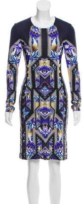 Mary Katrantzou Printed Long Sleeve Dress