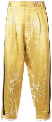 Haider Ackermann printed drop-crotch trousers