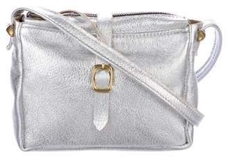 Clare Vivier Metallic Leather Zip Crossbody Bag