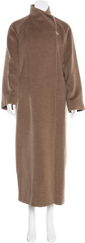 Max Mara MaxMara Virgin Wool Long Line Coat
