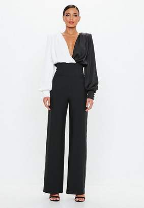 Missguided Black Contrast Piping Pants