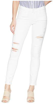 Paige Skyline Ankle Peg in Bright White Destructed Women's Jeans