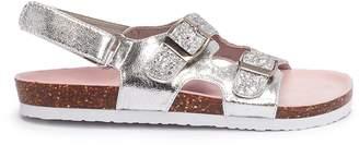WiNK 'Birkie's' glitter strap kids slingback sandals