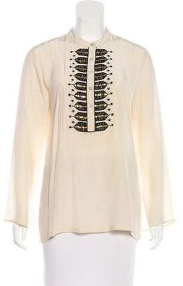 Figue Embellished Silk Top