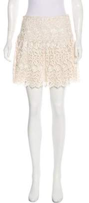 Alice + Olivia Lace Mini Skirt