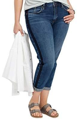 Silver Jeans Co. Women's Plus Size Vintage Slim Tuxedo Stripe