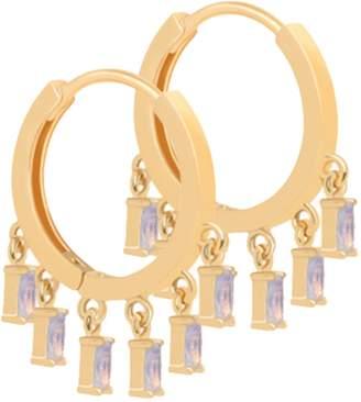 Astrid & Miyu - Mystic Opal Charm Hoops In Gold