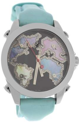 Jacob & co Five 5 Time Zone JC-M122 Stainless Steel with Mother of Pearl Dial 40mm Womens Watch