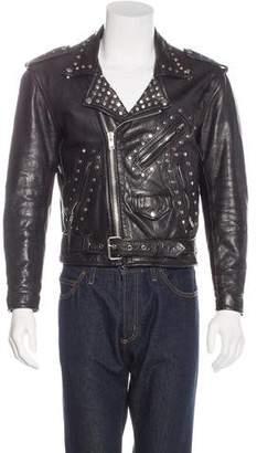 Enfants Riches Deprimes Embellished Leather Moto Jacket