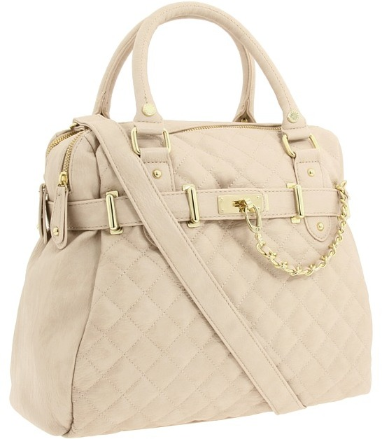 Steve Madden Quilted Satchel (Stone) - Bags and Luggage