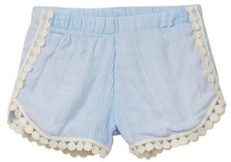 Little Mass Pink & Cream Shorts (Toddler, Little Girls, & Big Girls)