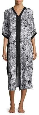 Ellen Tracy Plus Paisley Midi Dress