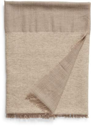 Nordstrom Signature Double Texture Alpaca Blend Throw Blanket