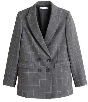 MANGO Check Structured blazer