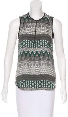 L'Agence Patterned Zip-Up Top w/ Tags