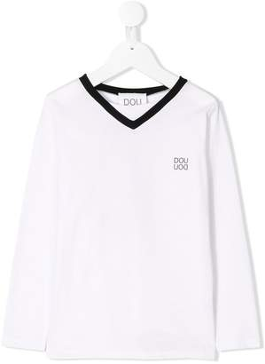 Douuod Kids sports print T-shirt