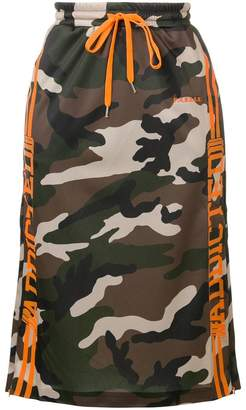 P.A.R.O.S.H. camouflage logo skirt