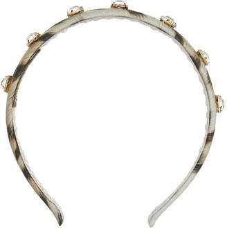 Roberto Cavalli Leopard Print Embellished Headband