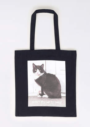 WildFang Don't Tell Me to Smile Cat Tote - Don't Tell Me to Smile Cat Tote - BLACK - OS