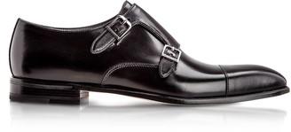 Moreschi Toronto Black Calfskin Monk Shoes