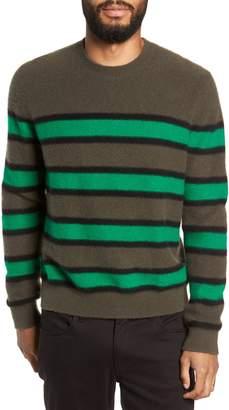 Vince Regular Fit Stripe Cashmere Sweater