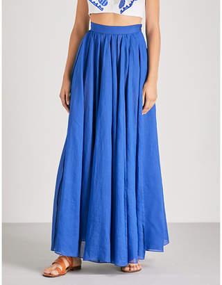 Three Graces London Arlene ramie maxi skirt