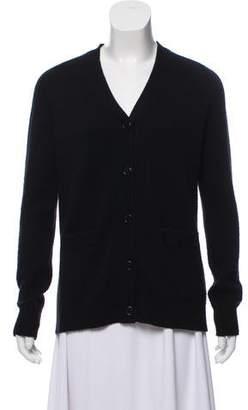 Organic by John Patrick Wool-Blend Button-Up Knit Cardigan