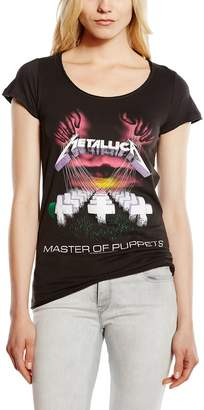 Amplified Women's Master Of Puppets Short Sleeve T-Shirt Size 8 Charcoal