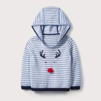 The White Company Reindeer Hooded Jumper