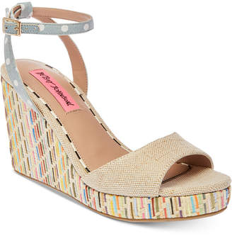 Betsey Johnson Dotie Wedge Sandals Women's Shoes