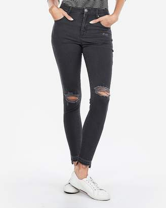 Express High Waisted Ripped Stretch Ankle Leggings