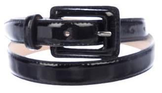 Neiman Marcus Patent Leather Waist Belt