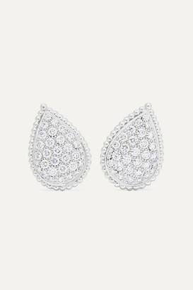 Boucheron Serpent Bohème 18-karat White Gold Diamond Earrings