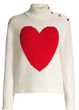 Kate Spade Women's Broome Street Heart Turtleneck Sweater