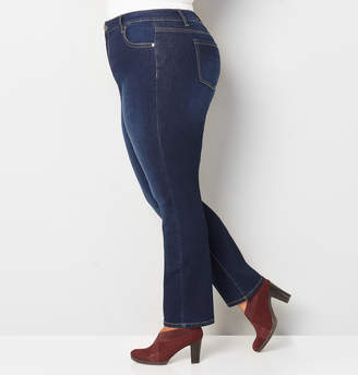 Avenue 1432 Straight Leg Jean in Dark Wash