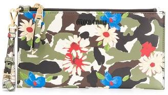 Miu Miu camouflage printed purse