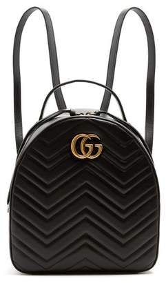 Gucci - Gg Marmont Quilted Leather Backpack - Womens - Black