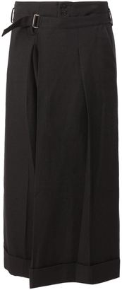 Yohji Yamamoto belted wide leg trousers $1,280 thestylecure.com